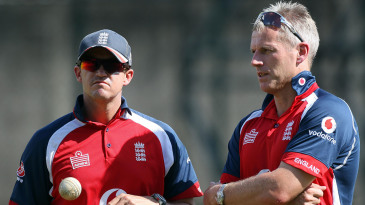 Andy Flower and Peter Moores enjoyed contrasting fortunes in their respective spells as England coach