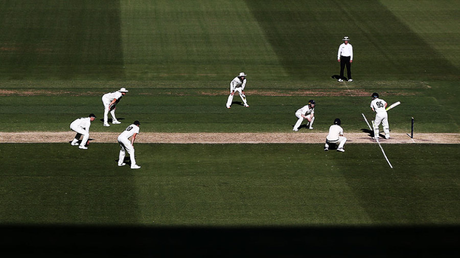 A general view of the Shield game at the MCG
