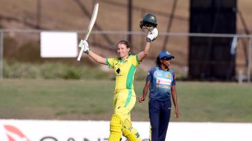 Alyssa Healy's 71-ball hundred took Australia to their record-breaking win