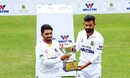 Mominul Haque and Marshall Ayub pose with the NCL trophy, October 9, 2019