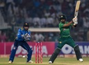 Babar Azam plays on the off side, Pakistan v Sri Lanka, 3rd T20I, Lahore, October 9, 2019