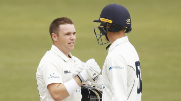Marcus Harris and Nic Maddinson shared a double century stand