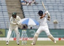Cheteshwar Pujara plays a cut, India v South Africa, 2nd Test, Pune, 1st day, October 10, 2019