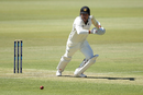 Marcus Stoinis drives during his half-century, Western Australia v Tasmania, Sheffield Shield, Day 1, October 10, 2019
