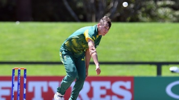 Gerald Coetzee in action for South Africa at the 2018 Under-19 World Cup
