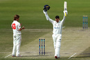 Nic Maddinson celebrates his maiden first-class double century, Victoria v South Australia, Day 2, Sheffield Shield, Round 1, October 11, 2019