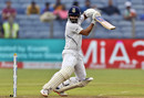 Ajinkya Rahane steers the ball into the off side, India v South Africa, 1st Test, Pune, 1st day, October 10, 2019
