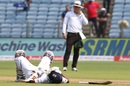 Ajinkya Rahane needed attention from the team physio, India v South Africa, 2nd Test, Pune, 2nd day, October 11, 2019