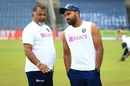 Bowling tips for Rohit Sharma from Bharat Arun?, India v South Africa, 2nd Test, Pune, 2nd day, October 11, 2019