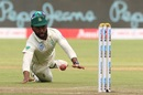 Temba Bavuma has a shy at the stumps, India v South Africa, 2nd Test, Pune, 2nd day, October 11, 2019