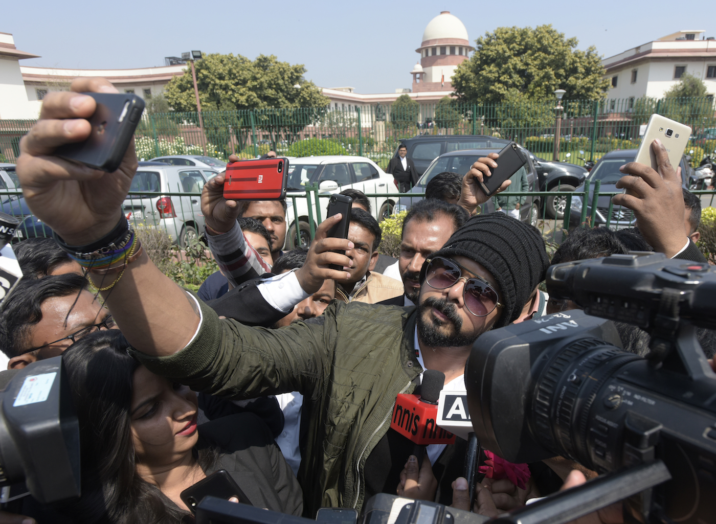 What do you do when the Supreme Court sets aside your life ban? Take a selfie