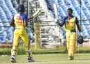 B Aparajith celebrates his hundred with childhood friend Vijay Shankar, Tamil Nadu v Railways, Vijay Hazare Trophy 2019, Jaipur, October 9, 2019