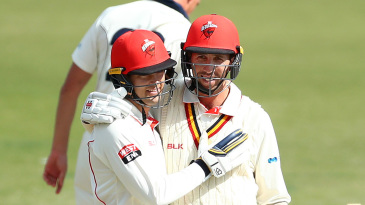 Alex Carey and Tom Cooper shared a 207-run stand