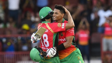 Shoaib Malik and Brandon King have been Guyana Amazon Warriors' batting stars