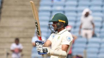 Keshav Maharaj played a gutsy rearguard despite an injured right shoulder