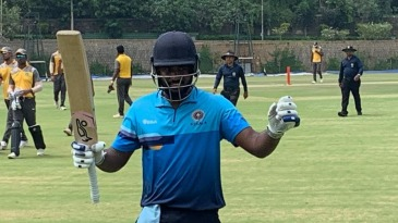 Sanju Samson became the second double-centurion in the Vijay Hazare Trophy