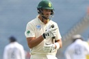 Aiden Markram had plenty on his mind after bagging a pair,  India v South Africa, 2nd Test, Pune, 4th day, October 13, 2019