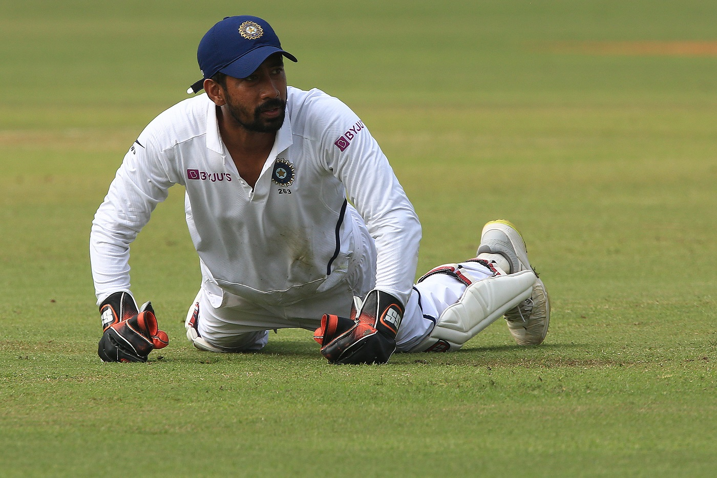 Wriddhiman Saha behind the stumps: acrobatic, safe, alert and able to fly - all at the same time