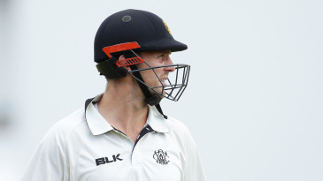 Mitchell Marsh walks off after his dismissal on the final day