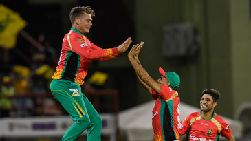 Between them, Chris Green, Imran Tahir and Qais Ahmad took 36 wickets for Guyana Amazon Warriors in this year's CPL