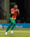 Chandrapaul Hemraj celebrates a wicket, Guyana Amazon Warriors v Jamaica Tallawahs, CPL 2019, Providence, October 3, 2019