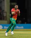 Chandrapaul Hemraj celebrates a wicket, Guyana Amazon Warriors v Jamaica Tallawahs, CPL 2019, Providence, October 3, 2019