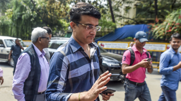 Sourav Ganguly arrives at the BCCI headquarters to file his nomination