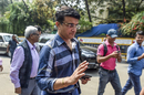 Sourav Ganguly arrives at the BCCI headquarters to file his nomination, Mumbai, October 14, 2019