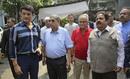 Sourav Ganguly, N Srinivasan, Niranjan Shah and Rajiv Shukla pose at the BCCI headquarters, Mumbai, October 14, 2019