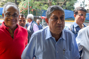 N Srinivasan and Niranjan Shah enter the BCCI headquarters, Mumbai, October 14, 2019