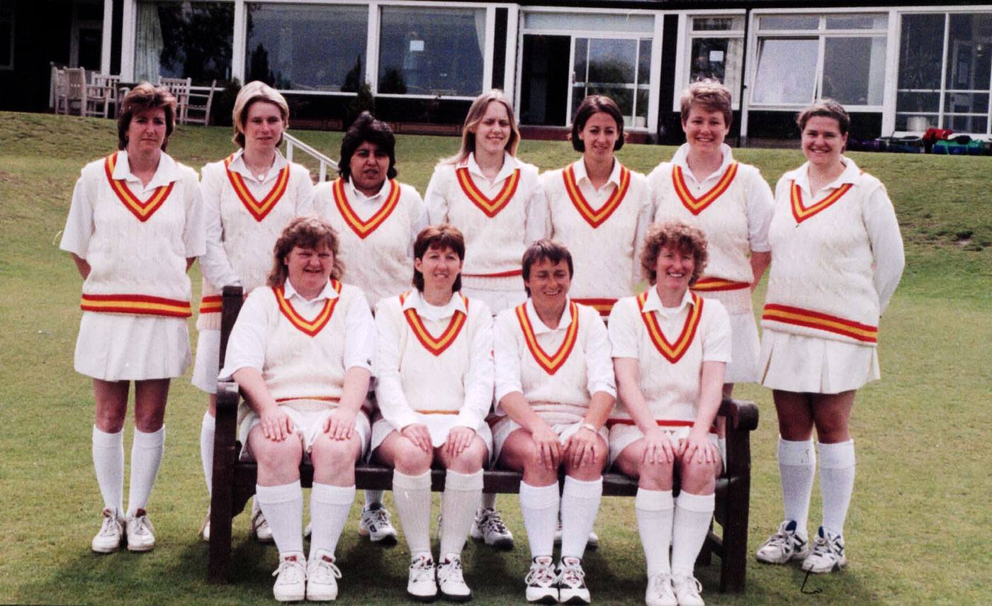 Shaiza Khan (back row, third from left) and her sister Sharmeen played cricket in the UK before they returned home to set up a Pakistan women's team