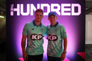 Jason Roy and Sam Curran at the launch of The Hundred, The Hundred launch, London, October 3, 2019