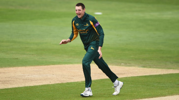 Matt Carter starred with the new ball in the Blast for Nottinghamshire