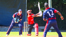 Ravinderpal Singh slogs a six over the leg side, Canada v Cayman Islands, Americas Regional Final - T20 World Cup Qualifier, Sandys Parish, August 18, 2019
