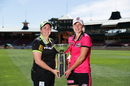 Rachel Priest and Ellyse Perry ahead of the Sydney derby which launches the WBBL, North Sydney Oval, October 17, 2019