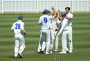 Mitchell Starc removed Matthew Wade on a tough day for the bowlers, New South Wales v Tasmania, Sheffield Shield, Drummoyne Oval, October 18, 2019