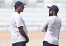 Ravi Shastri and Virat Kohli chat during a practice session, Ranchi, October 18, 2019