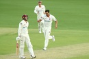 Debutant Wes Agar's triple strike rattled Queensland, Queensland v South Australia, Sheffield Shield 2019-20, Brisbane, Day one, October 18, 2019