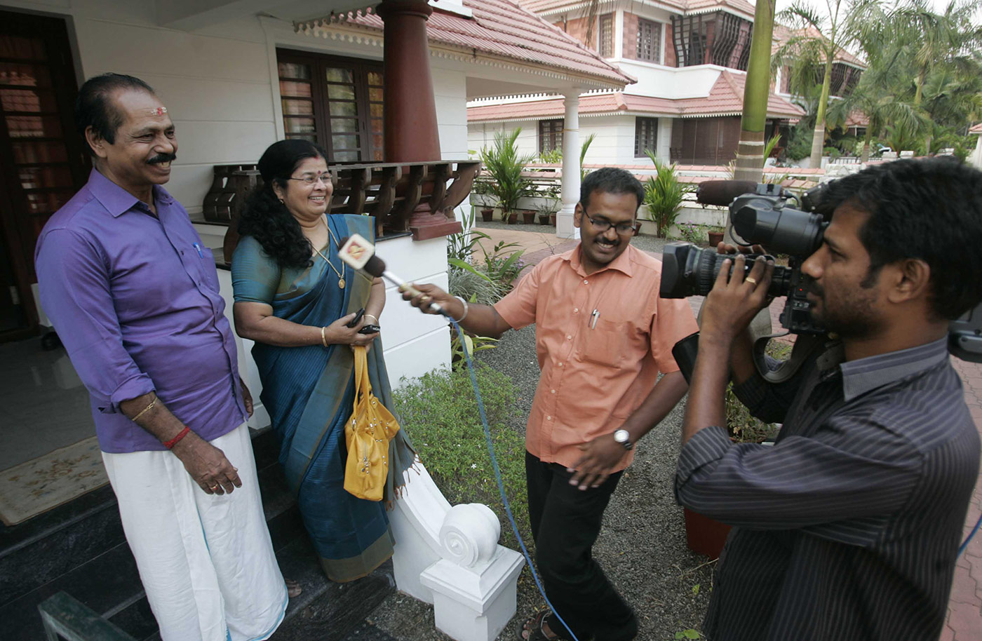 Sreesanth's parents are interviewed at their home in Ernakulam in 2011 after he made it to the India World Cup squad