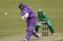Chloe Tryon launches down the ground, Melbourne Stars Women v Hobart Hurricanes Women, WBBL, Melbourne, October 19, 2019