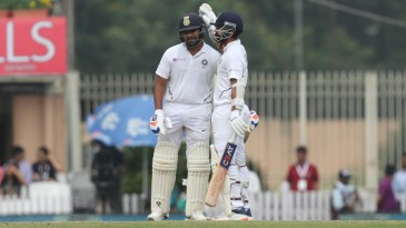 Rohit Sharma and Ajinkya Rahane set India back on track