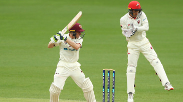 Bryce Street cuts during his debut half-century