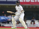 Ajinkya Rahane is a picture of concentration as he leaves one outside off, India v South Africa, 3rd Test, Ranchi, 1st day, October 19, 2019