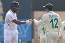 Rohit Sharma is congratulated by Quinton de Kock, India v South Africa, 3rd Test, Ranchi, 2nd day, October 20, 2019