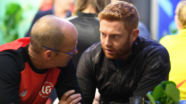 Welsh Fire head coach Gary Kirsten and star player Jonny Bairstow at The Hundred draft
