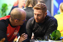 Welsh Fire head coach Gary Kirsten and star player Jonny Bairstow at The Hundred draft, London October 20, 2019