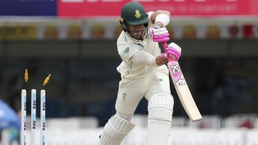 Faf du Plessis hears the death rattle behind him