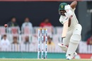 Temba Bavuma is watchful as he drives, India v South Africa, 3rd Test, Ranchi, 3rd day, October 21, 2019