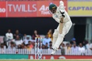 Anrich Nortje uses all of his frame to negotiate a short ball, India v South Africa, 3rd Test, Ranchi, 3rd day, October 21, 2019