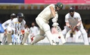 George Linde swats one through the on side, India v South Africa, 3rd Test, Ranchi, 3rd day, October 21, 2019